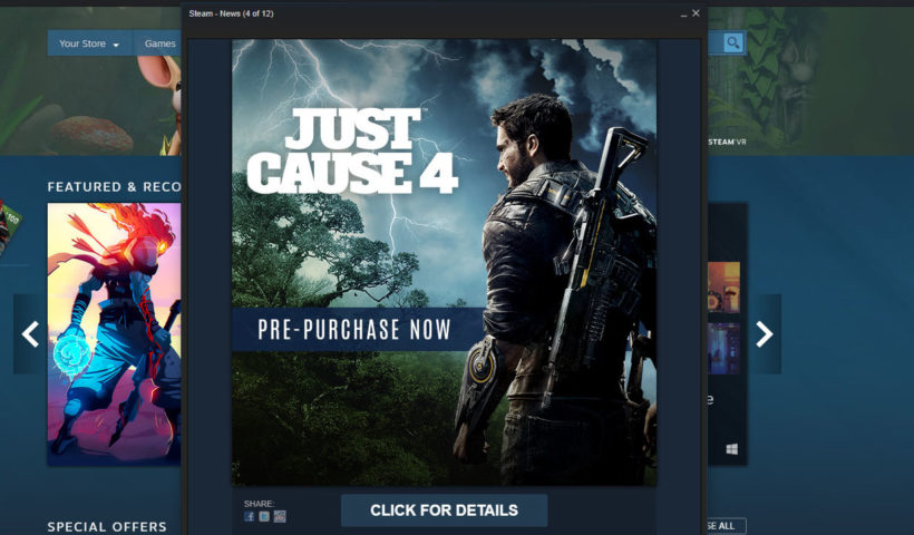 Just Cause 4 Steam Ad