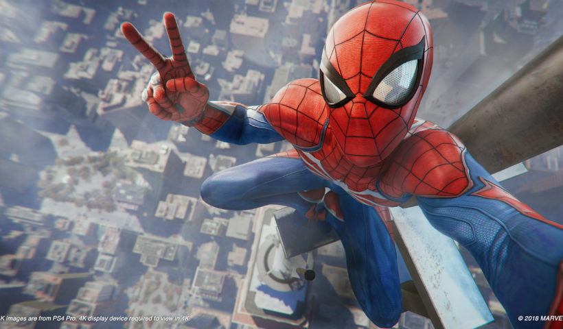 Insomniac's Spiderman Taking A Selfie