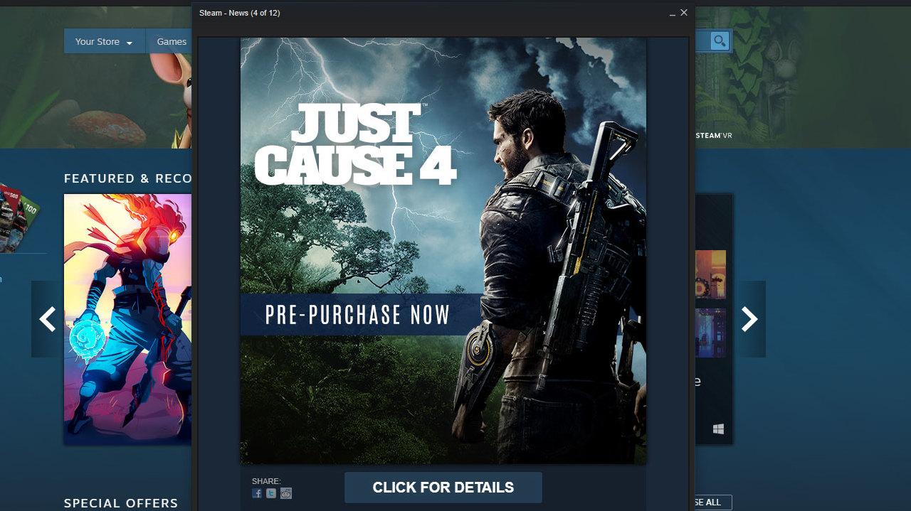 Just Cause 4 Steam Ad