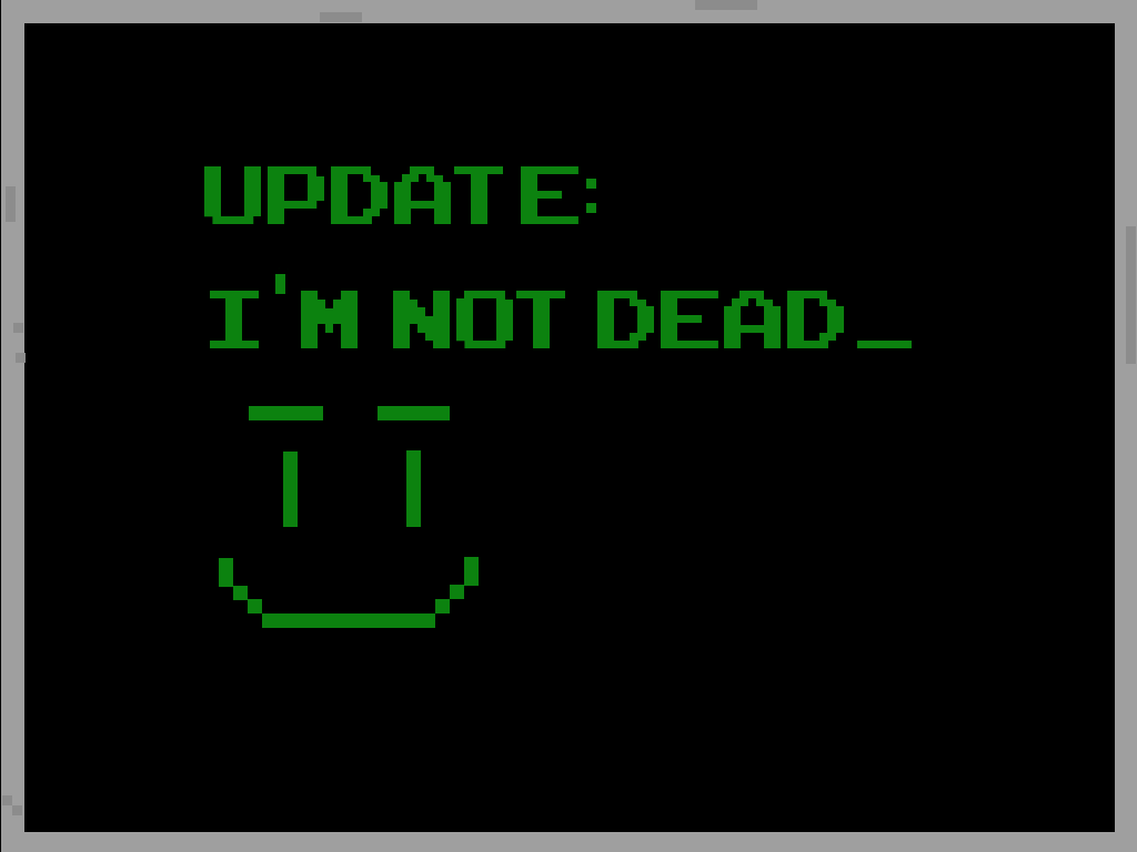 Update: I'm Not Dead Image